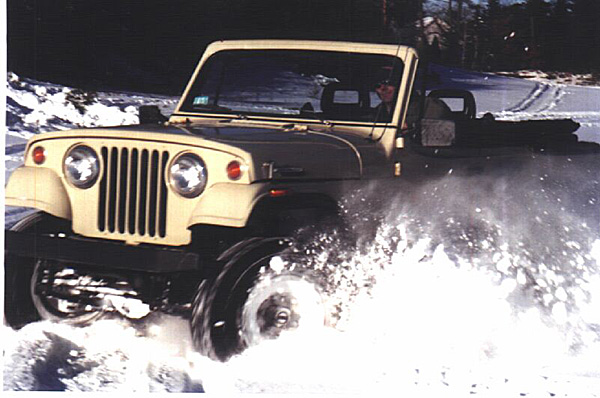 Brian Sweeney in his Jeepster